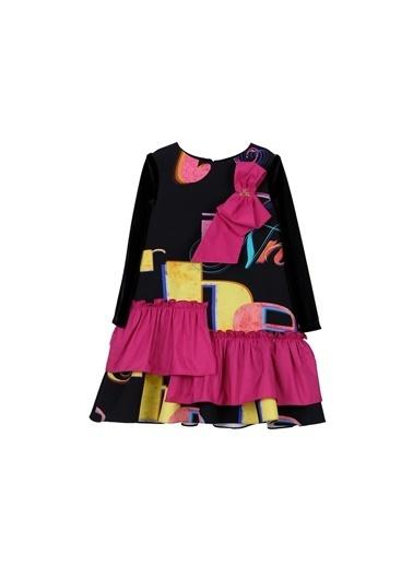 Lia Lea Kız Bebek Desenli Elbise 20Fwllb0201 Renkli